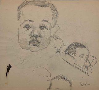 LYONEL FEININGER, (American/German, 1871-1956), (Portrait of Andreas Feininger)