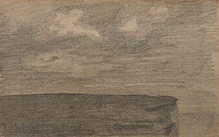 LYONEL FEININGER, (American/German, 1871-1956), (Landscape and Cliff)