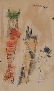 LYONEL FEININGER, (American/German, 1871-1956), (Three Figures)