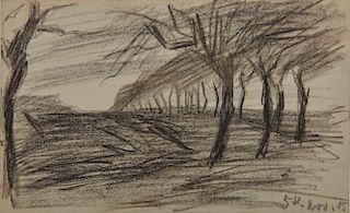 LYONEL FEININGER, (American/German, 1871-1956), (Trees)