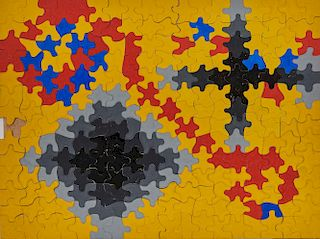 """A """"Personal Pattern Puzzle"""" designed by JULIA and LYONEL FEININGER in 1941"""