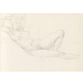 Augustus Edwin John, Reclining Nude