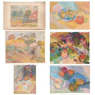 Eugenie Baizerman, (6) paintings, 1931-1947