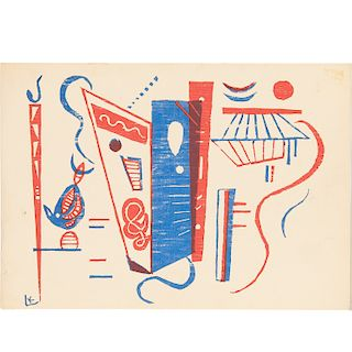 """Wassily Kandinsky , """"Composition in Red and Blue"""""""