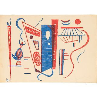 """Wassily Kandinsky, """"Composition in Red and Blue"""""""