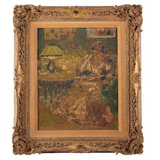 Edouard Vuillard (attrib.), Madame Dans Son Salon