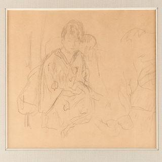 Pierre Bonnard (attrib.) , Woman in Kimono, 1910