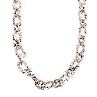"A Sterling ""Kali"" Pebble Link Necklace by J. Hardy"