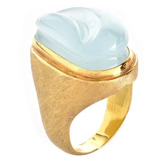 H. Burle Marx Aquamarine and 18K Gold Ring