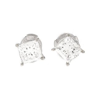 GIA 2.0ct TW Diamond Ear Studs