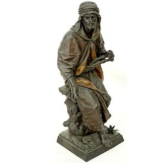 After Anatole Guillot (1865 - 1911) Spelter Figure