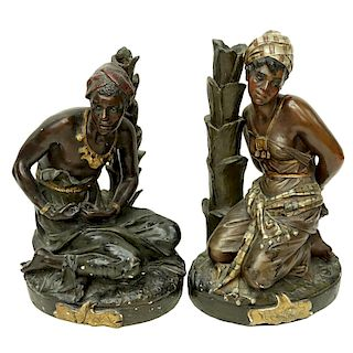 Pair of French Orientalist Slave Figures