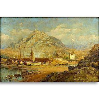"Carl Wuttke, German (1849-1927) O/B ""Tangiers"""