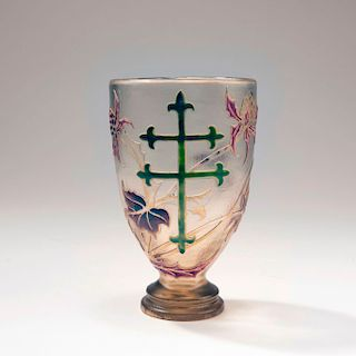 Chardons et Croix de Lorraine' goblet, c. 1895