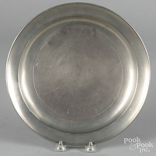 Large New York pewter plate, etc.