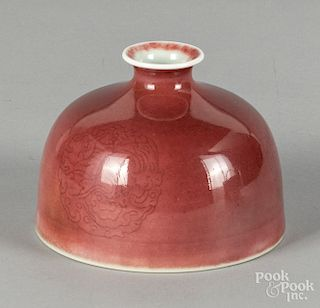Chinese porcelain peach bloom water coupe, etc.
