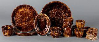 Rockingham glaze pottery, etc.