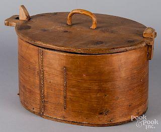 Scandinavian bentwood box, 19th c.