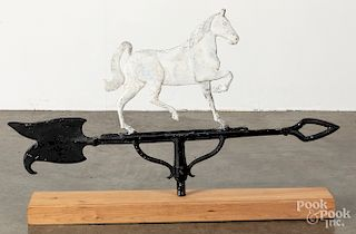 Painted horse weathervane, early 20th c.