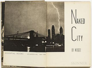 Weegee [aka Arthur Usher Fellig] (1899-1968) Naked City  , Signed Copy.