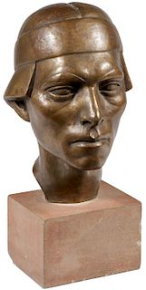 BRONZE BUST ATTRIBUTED TO MALVINA HOFFMAN