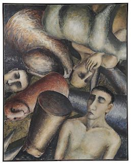 SIGNIFICANT PHILIPPE COGNÉE OIL ON CANVAS