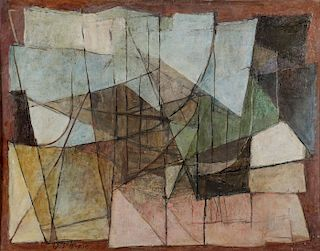 IMPORTANT ABSTRACT HENRIQUE BOESE, 1967