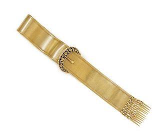 A Victorian Yellow Gold Belt Motif Bracelet, 29.90 dwts.