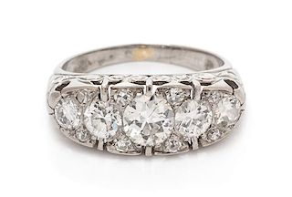 A Platinum and Diamond Ring, 3.00 dwts.