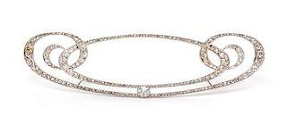 A Belle Epoque Platinum and Diamond Brooch, Cartier, 6.45 dwts.
