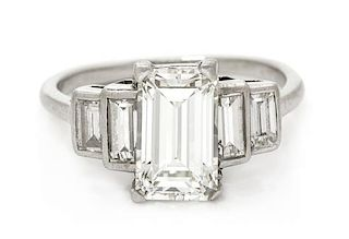 A Platinum and Diamond Ring, 2.40 dwts.