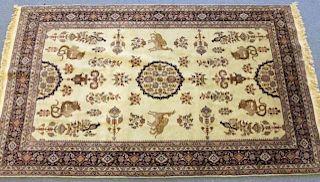 Persian Hunt Scene Rug