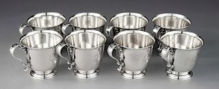 8 Int'l Silver Lord Saybrook Sterling Punch Cups