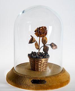 Cartier Sterling Woven Basket Figural Flower