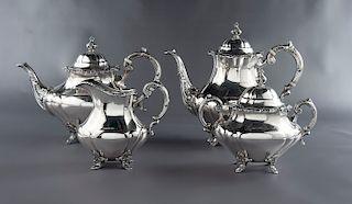 4 Pc Reed & Barton Sterling Tea Set