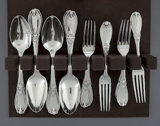 15 Pcs 19th C. Sterling Flatware Incl Whiting
