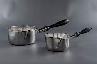 2 Silver Pipkin/Pourers