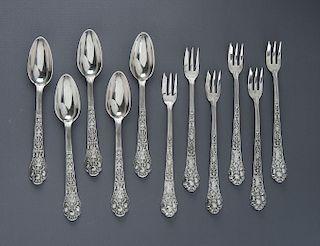 11 Pcs Gorham Old Medici Sterling Flatware