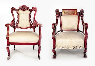 Two Edwardian Arm Chairs