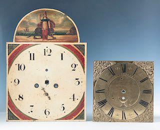 2 Antique Clock Faces