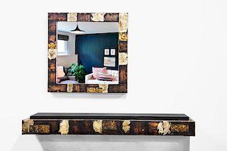 Paul Evans Patchwork Wall Shelf & Mirror