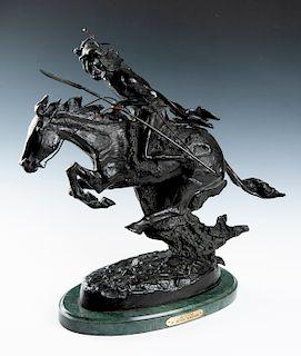 "After Frederic Remington Bronze ""Cheyenne"""