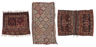3 Antique Persian Rugs/Trappings