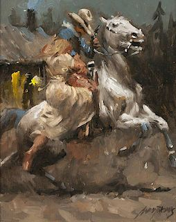Andy Thomas b. 1957   Billy Saves the Girl
