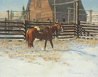 Gary Carter b. 1939 CAA, NWR   Beaver Waiting for Jorie
