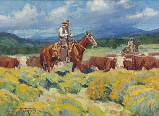 Jim C. Norton b. 1953 CAA, NWR   Riding Flank