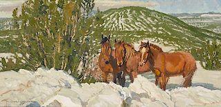 Robert Lougheed 1910 - 1982 CAA, NAWA   Patterns of a Winter Morning