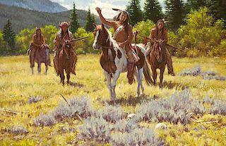 Steven Lang b. 1960 OPAM   Fate of the Hunters