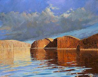 Roy Swenson b. 1937   Hay Stacks, Lake Powell