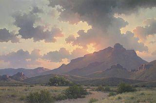 Michael Stack b. 1947 Master AOA   Morning Sky Over Cazador